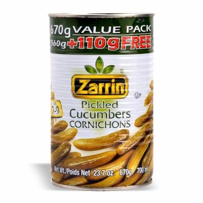 ZARRIN CUCUMBER PICKLE 20 % MORE 12/670 GR