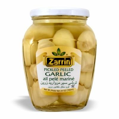 ZARRIN PEELED GARLIC PICKLE 12/24 OZ