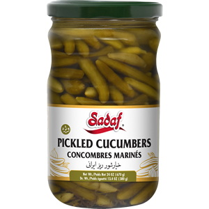 Sadaf Pickled Cucumbers with Tarragon 24 oz
