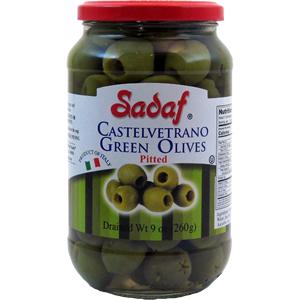 Sadaf Castelvetrano Green Olives Pitted 9 oz.