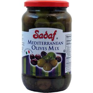 Sadaf Mediterranean Olives Mix 12 oz.