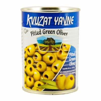 YAVNE GREEN PITTED OLIVES 12/19 OZ