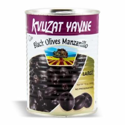 YAVNE BLACK OLIVES LARGE 12/19 OZ