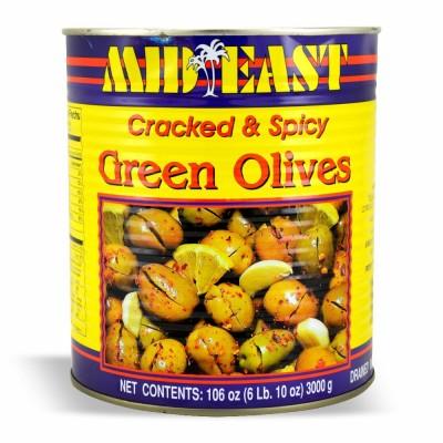 M.E. GREEN OLIVES W/SHATA 6/#10